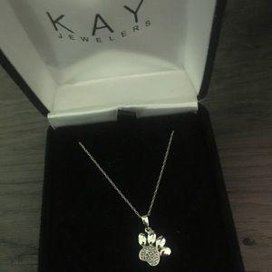 Kay Jewelers Paw Print Necklace